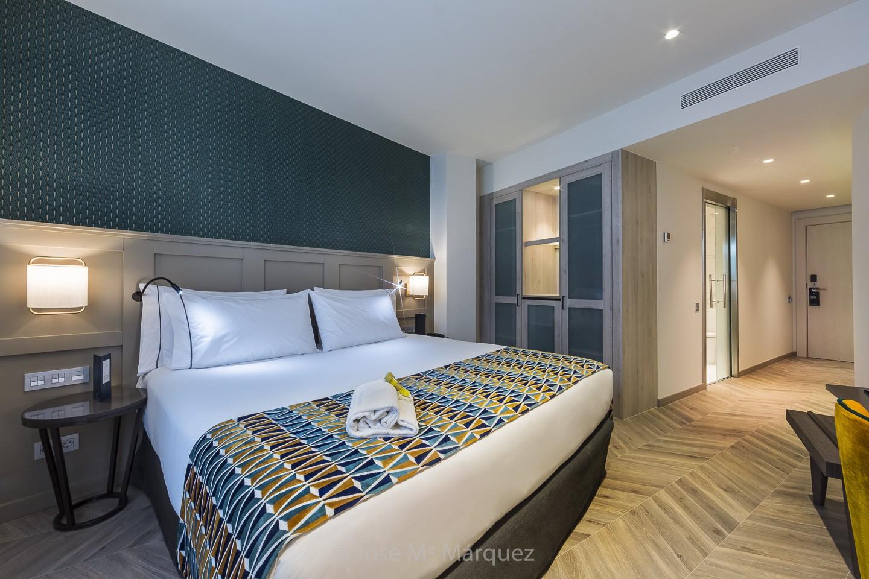 Fotografía de interiorismo y decoración. Habitación Hotel Juan Miguel. Reportajes publicitarios Granada